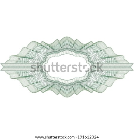 Guilloche elements for certificate or diploma / currency and money design / vector / CMYK color / All lines are easy editable - stock vector