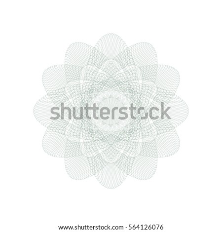 guilloche rosette element digital watermark security stock vector