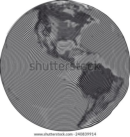 Guilloche Vector Illustration of Americas Uzumaki stile - stock vector