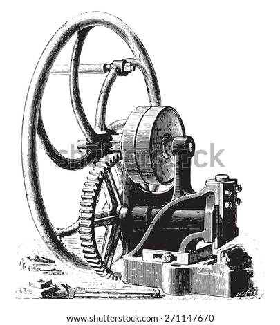 Guillotine, vintage engraved illustration. Industrial encyclopedia E.-O. Lami - 1875.  - stock vector