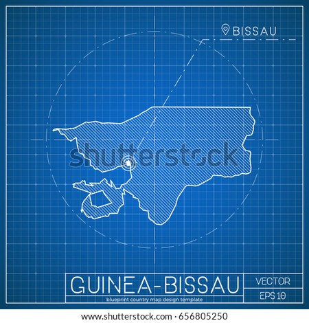 Taiwan blueprint map template capital city stock vector 659310604 guinea bissau blueprint map template with capital city bissau marked on blueprint guinea malvernweather Image collections