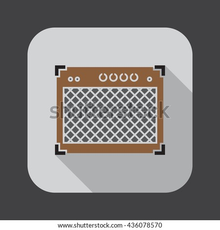 guitar amplifier icon - stock vector