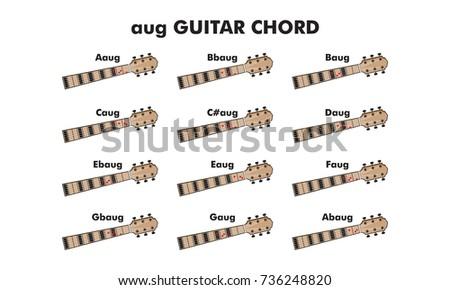 Guitar Chord Vector Illustration Guitar Lesson Stock Vector HD ...