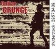 Guitar Grunge - stock vector