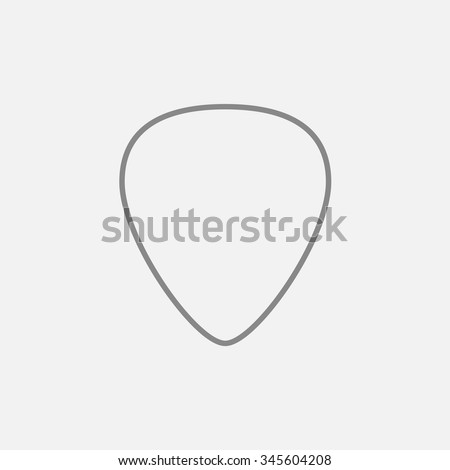 Guitar pick line icon for web, mobile and infographics. Vector dark grey icon isolated on light grey background.
