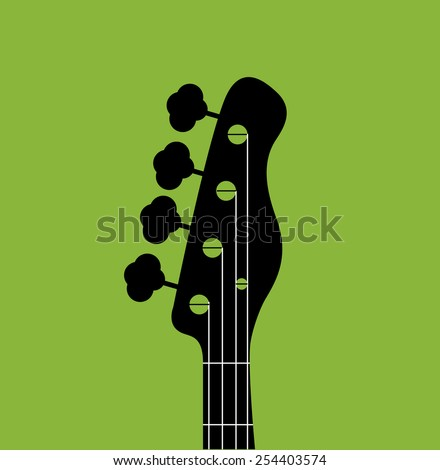 Guitar silhouette - stock vector