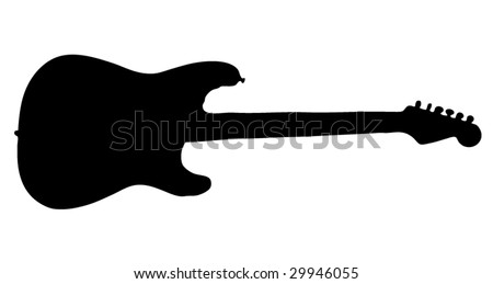 Guitar silhouette - stock vector
