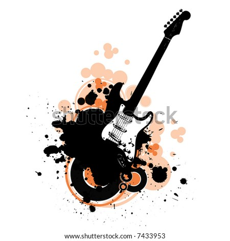 guitar vector - stock vector