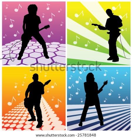 Guitarists - stock vector
