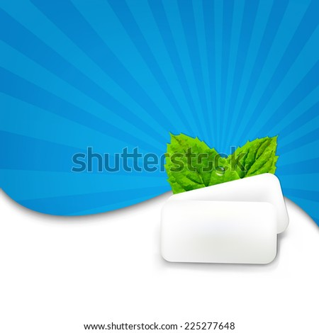 Gum With Blue Sunburst With Gradient Mesh, Vector Illustration - stock vector