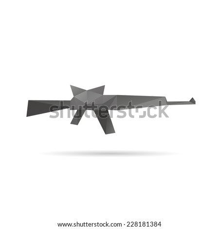 Gun abstract isolated on a white backgrounds, vector illustration  - stock vector