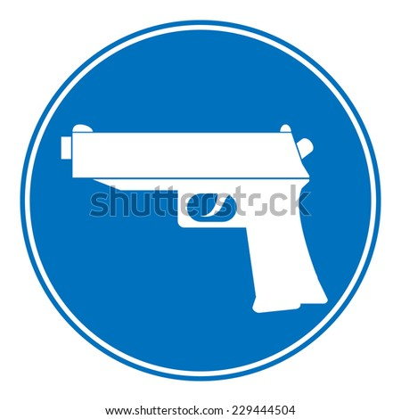 Gun allowing sign on white background. Vector illustration. - stock vector