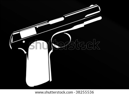 gun black - stock vector