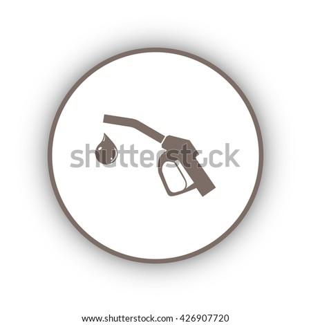 Gun for fuel pump with a drop of fuel, vector icon - stock vector