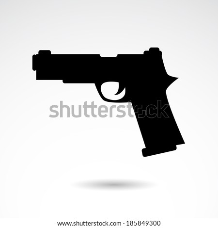 Gun icon isolated on white background. VECTOR illustration. - stock vector