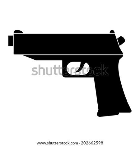 Gun icon on white background. Vector illustration. - stock vector