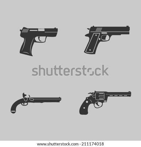 Gun icons - stock vector