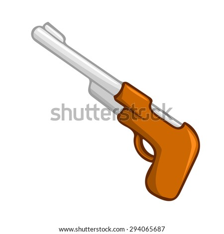gun isolated illustration on white background
