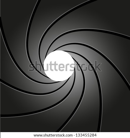 gun, rifled barrel inside - stock vector