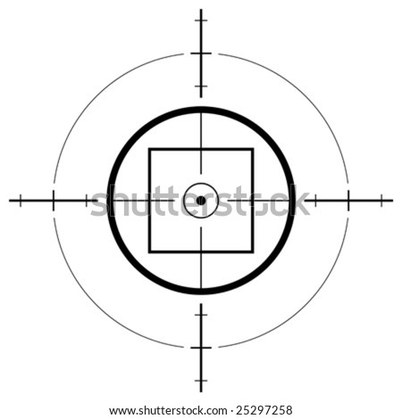 Gun sight isolated over white background - stock vector