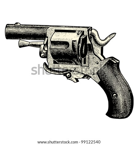 Gun - vintage engraved illustration - Catalog of a French department store - Paris 1909 - stock vector
