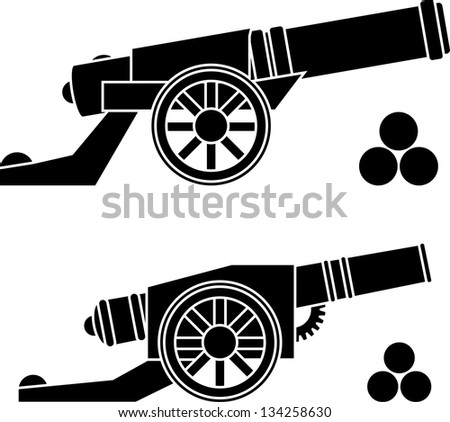 guns with kernels. vector illustration - stock vector