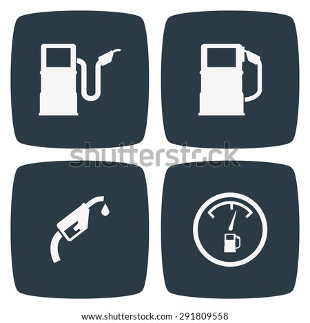 Gus Pump Icons - stock vector