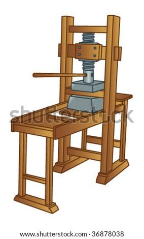 Gutenbergs Printing Press Stock Vector 36878038