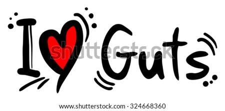 Guts love - stock vector