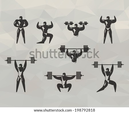 Gym icons. Vector format - stock vector