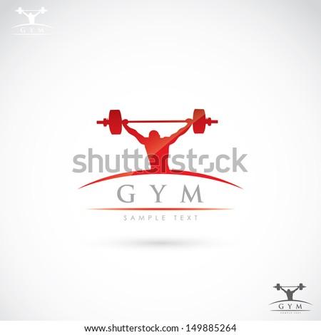 Gym label - vector illustration - stock vector