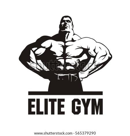 Gym Logo Vector Fitness Club Design Bodybuilder Image