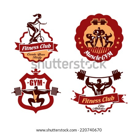 GYM. Vector format - stock vector