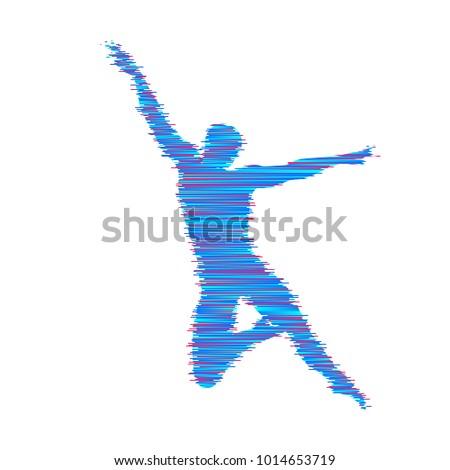 Gymnast Man Posing Dancing Sport Symbol Stock Photo Photo Vector