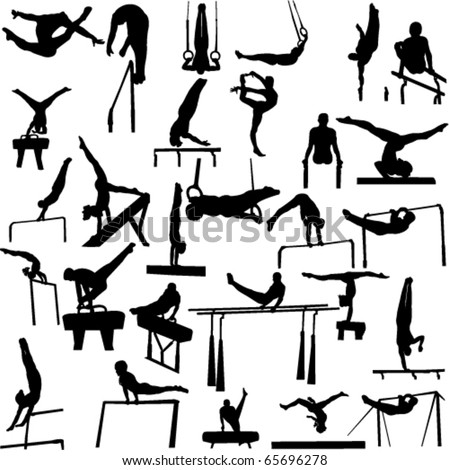 gymnastics collection - vector 1 - stock vector
