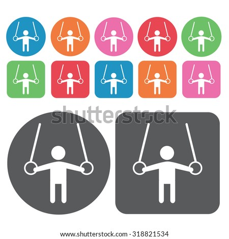 gymnastics  icons set. Vector Illustration eps10.