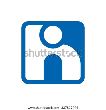 h and i logo template. logotype vector. - stock vector