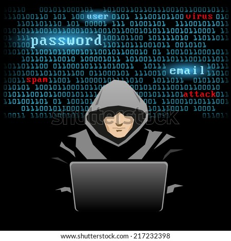 hacker - stock vector