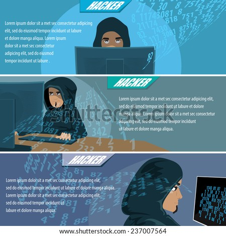 Hacker Flyer Template - Vector Illustration, Graphic Design, Editable For Your Design