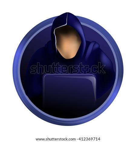 Hacker icon. Internet security - stock vector