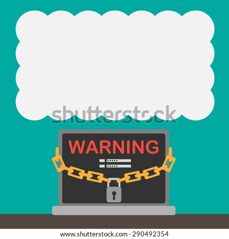 Hacker, identity theft and computer crime with white balloon space. - stock vector