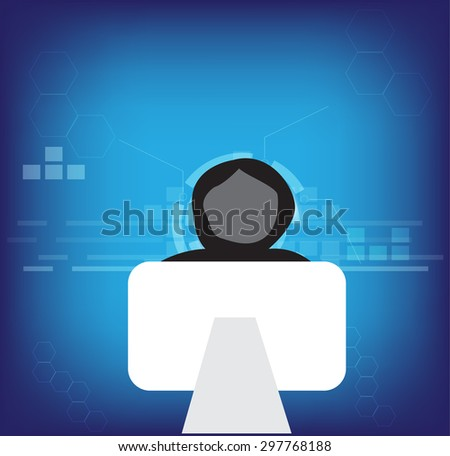 hacker in technology - stock vector