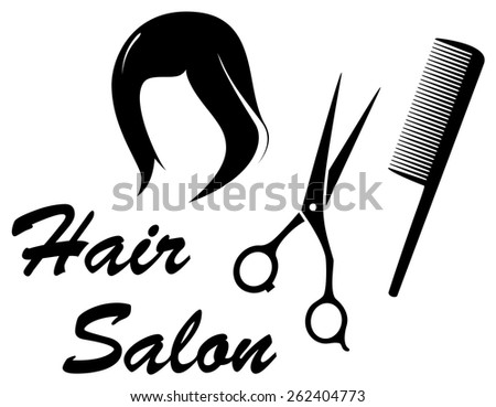 hair care isolated icon with woman head silhouette