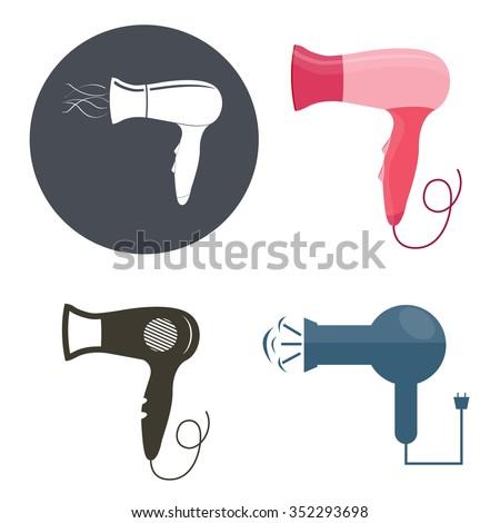 Hair dryer - stock vector