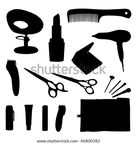 Hair equipment vector illustration on white background stock vector