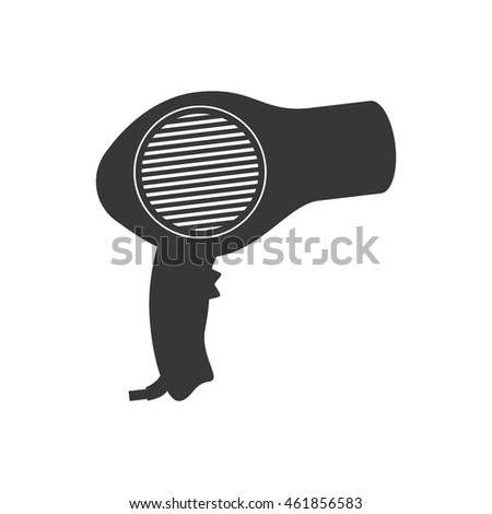 Hair salon and barber shop concept represented by dryer icon. Isolated and flat illustration