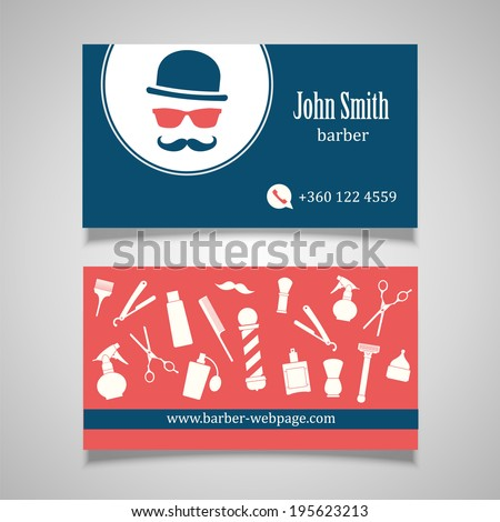 Hair salon barber business card design stock vector hd royalty free hair salon barber business card design template flashek