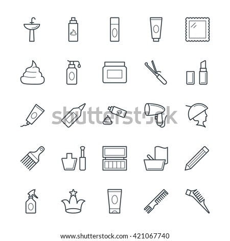 Hair Salon Cool Vector Icons 2