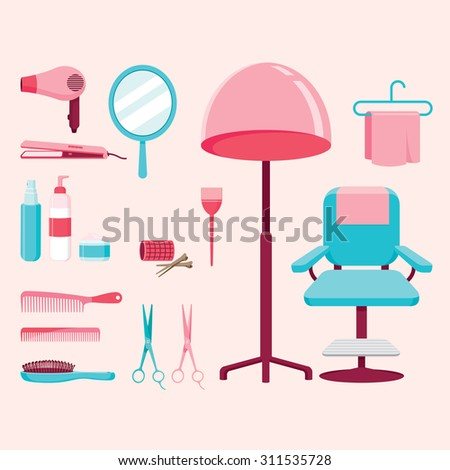 Beauty parlor stock images royalty free images vectors for Accessories for beauty salon