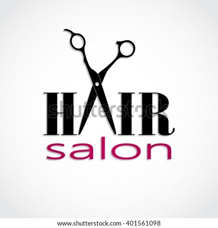 Hair scissors logo